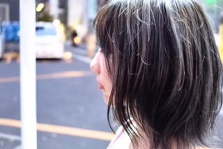 ダークネイビー+外ハネ スタイル